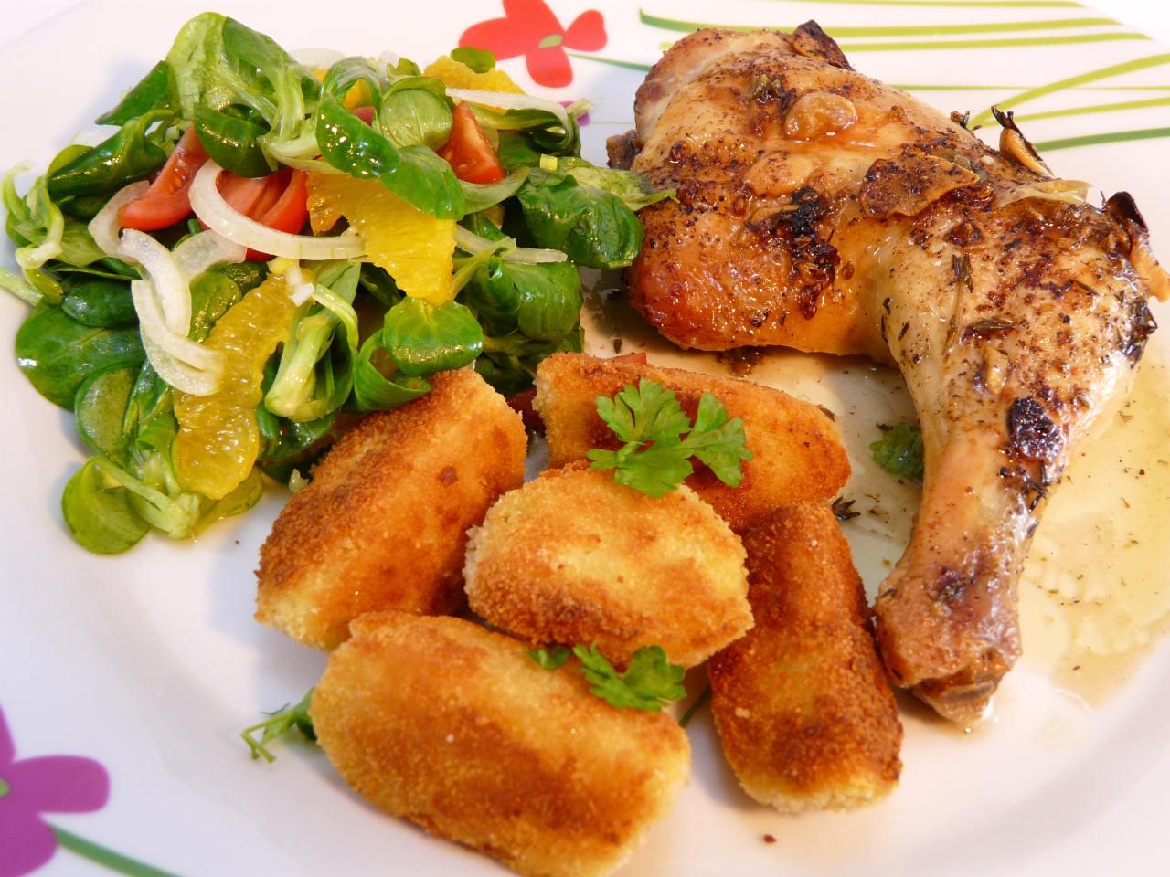 Huhn mit Knoblauch