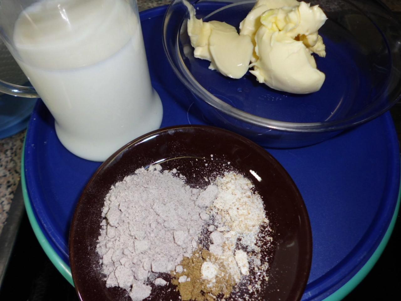 Zutaten für den Hefezopf ohne Ei