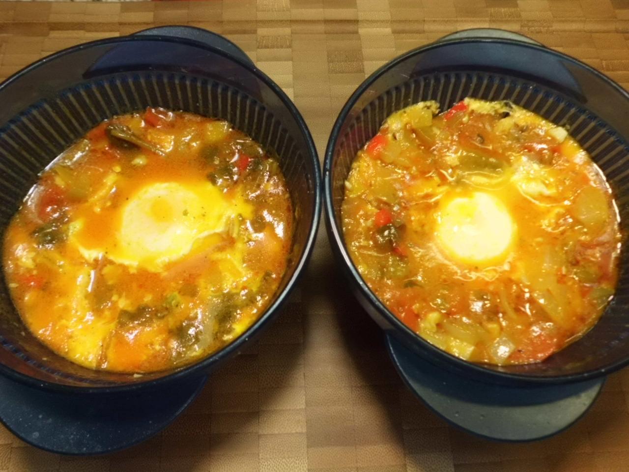 weiche gestockte Eier