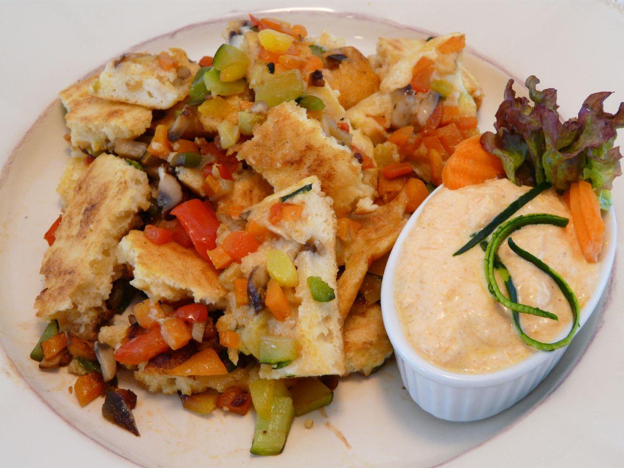 Gemüse Omelett