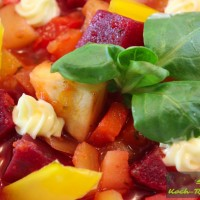 Vegetarische Gemüsesuppe
