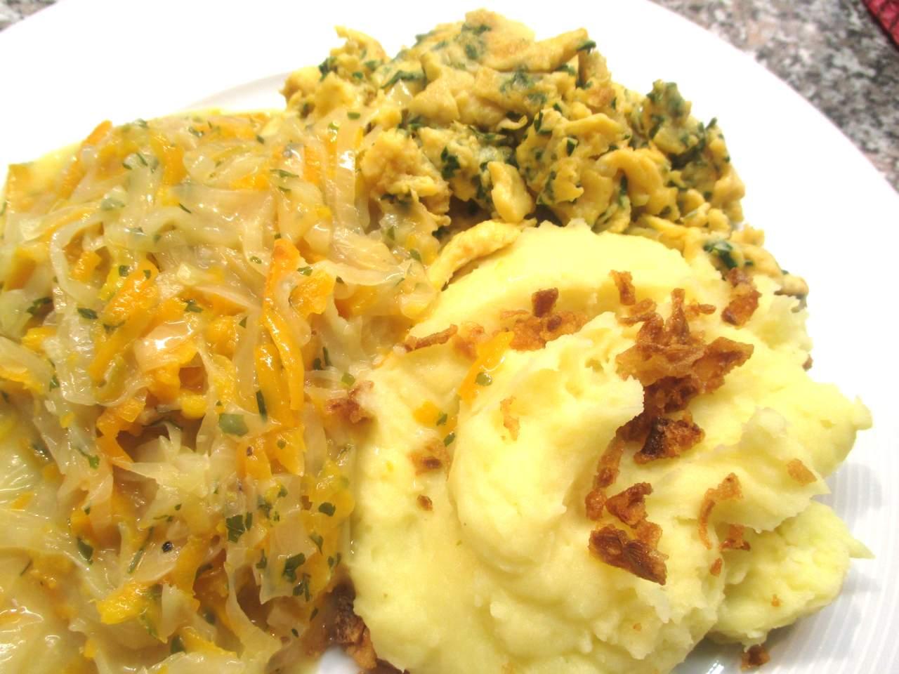 Karotten-Weißkohl Gemüse