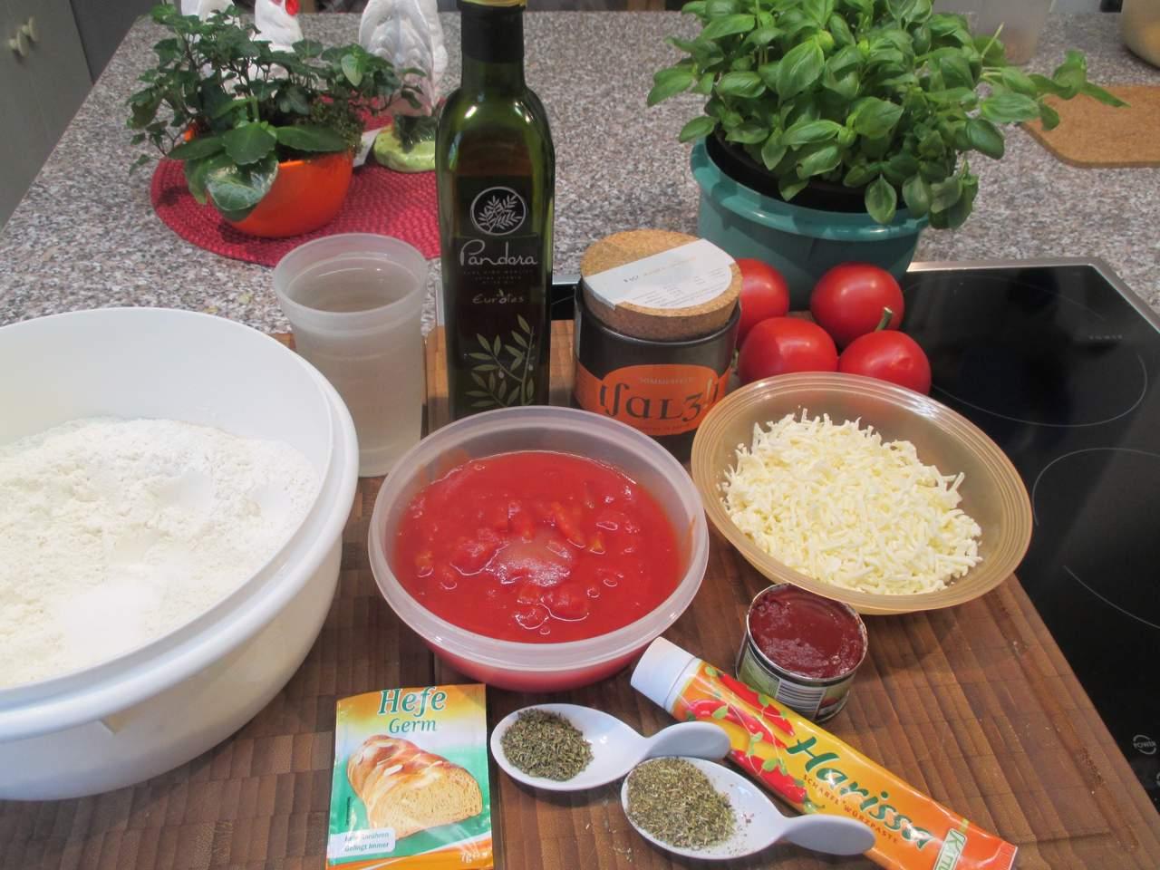 Zutaten für Pizza Margherita