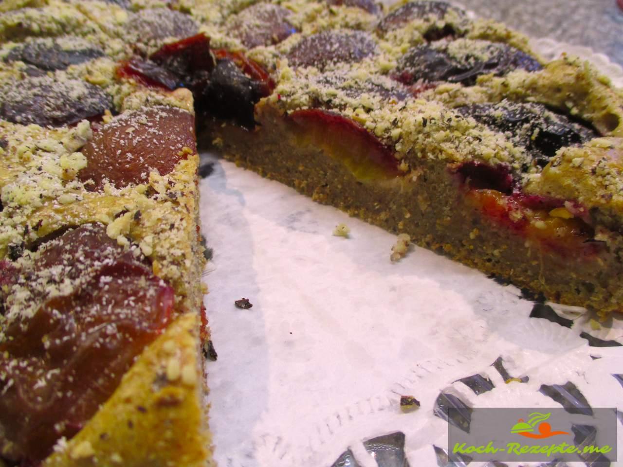Vollkorn Pflaumenkuchen