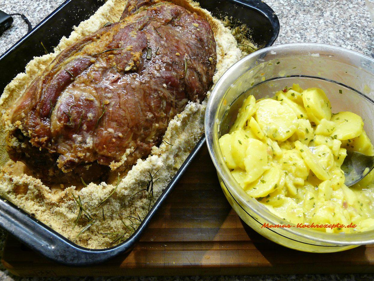 Knoblauch-Salzbraten und Schwäbischer Kartoffelsalat