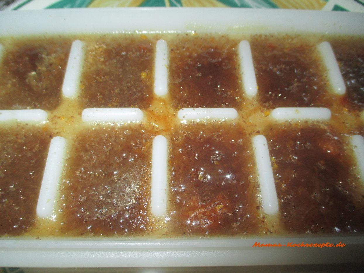 Fertiges Fond/Glace einfrieren