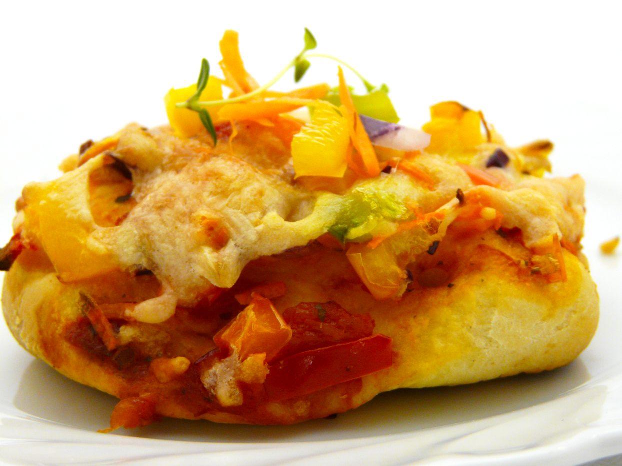 Gemüse Pizzabrötchen